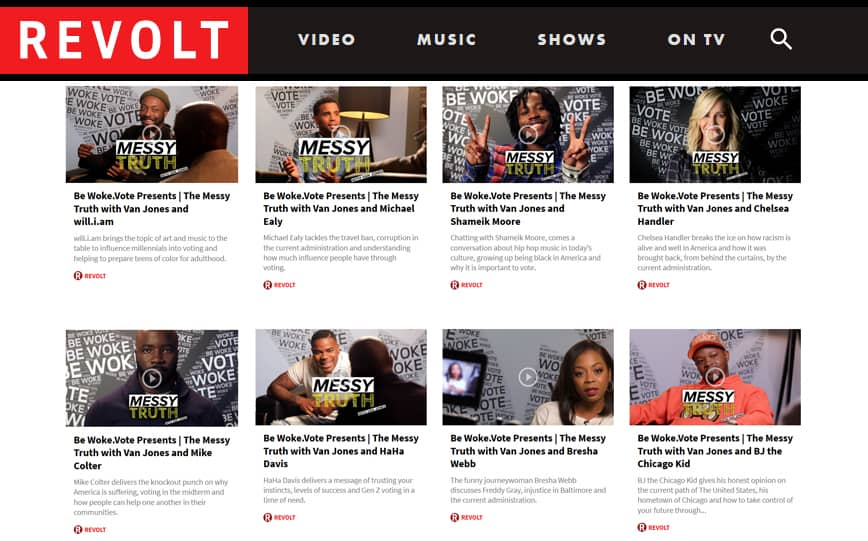 Revolt TV Picks Up Be Woke.Vote Series